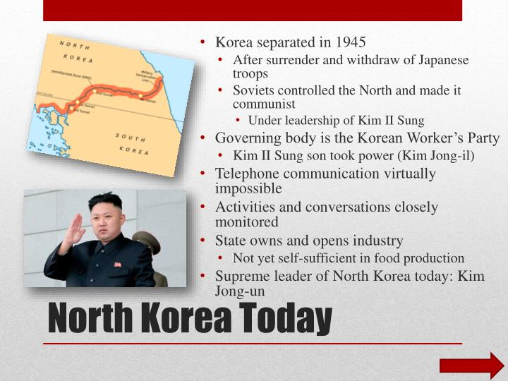 Korea separated in 1945