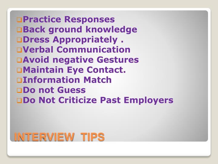 Practice Responses