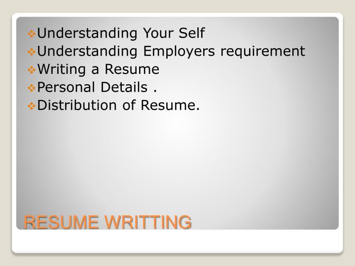 Resume writting