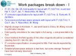 work packages break down i