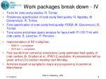 work packages break down iv