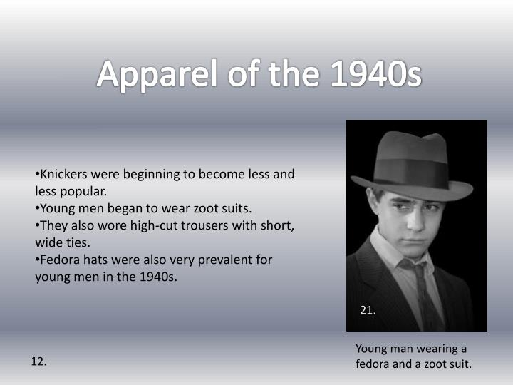 Apparel of the 1940s
