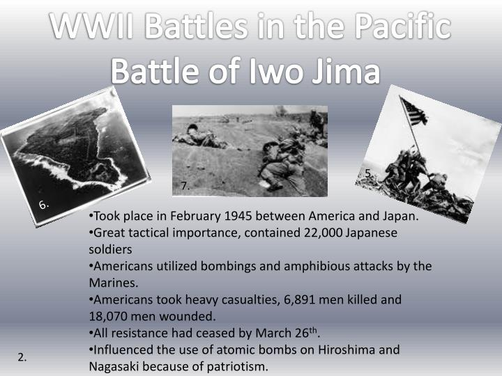 WWII Battles in the Pacific