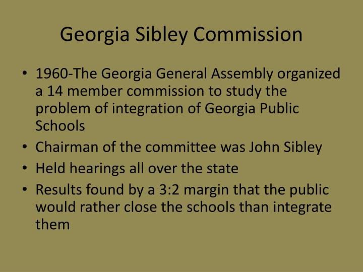 Georgia Sibley Commission