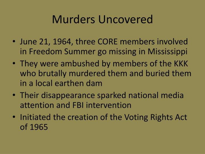 Murders Uncovered