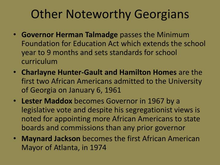 Other Noteworthy Georgians