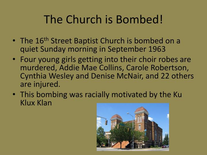 The Church is Bombed!