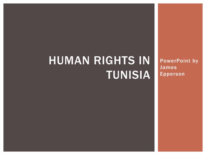 Human rights in tunisia
