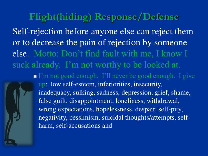 Flight(hiding) Response/Defense