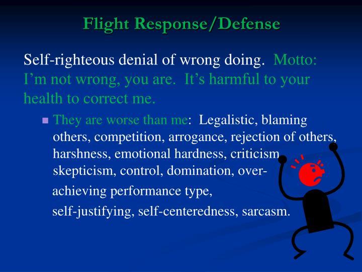 Flight Response/Defense