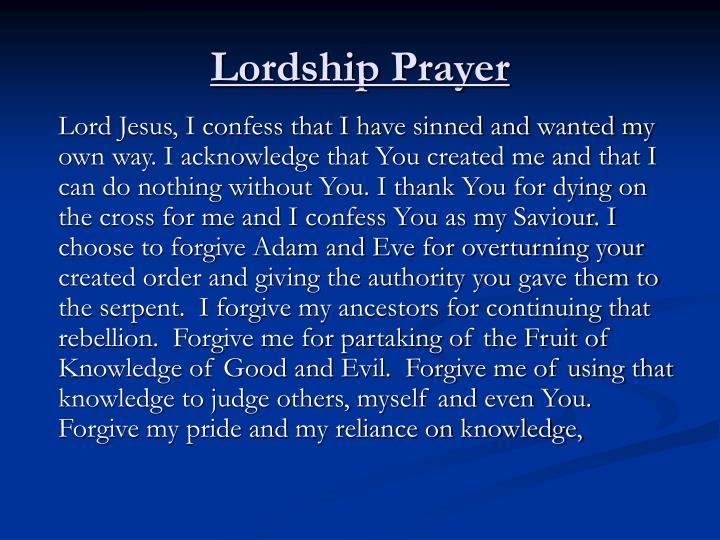 Lordship Prayer