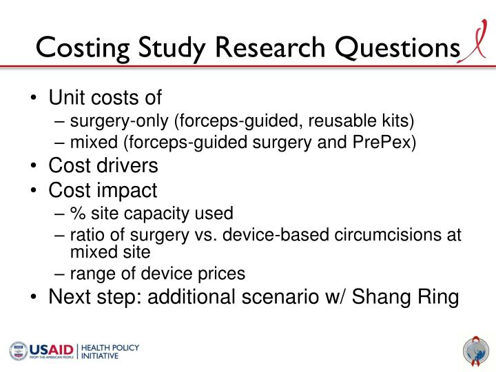 Costing Study Research