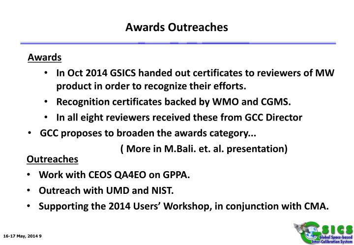 Awards Outreaches