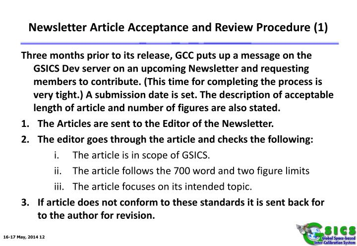 Newsletter Article Acceptance and Review Procedure (1)