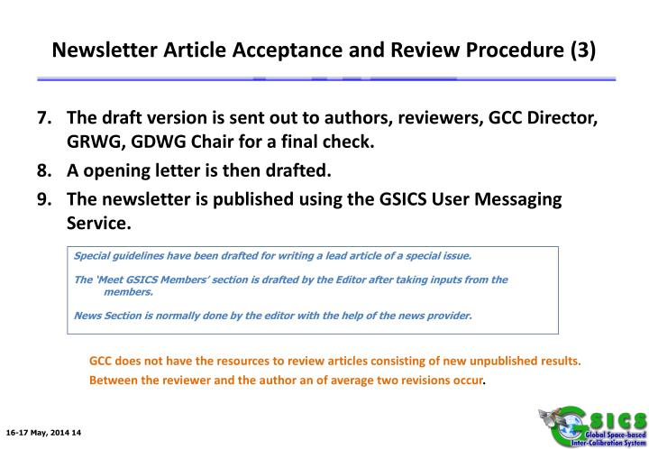 Newsletter Article Acceptance and Review Procedure (3)