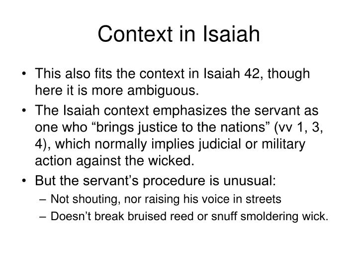 Context in Isaiah