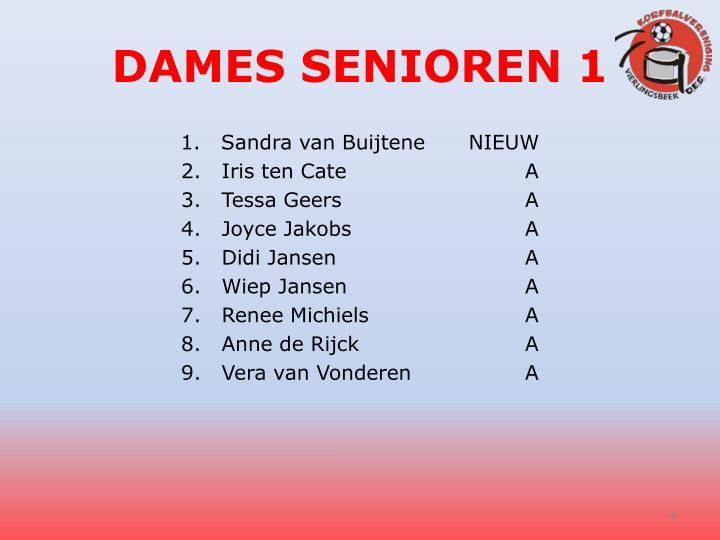 DAMES SENIOREN 1