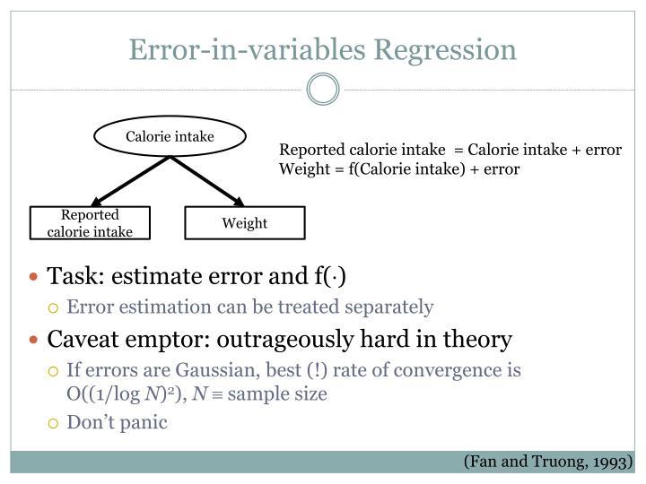 Error-in-variables Regression