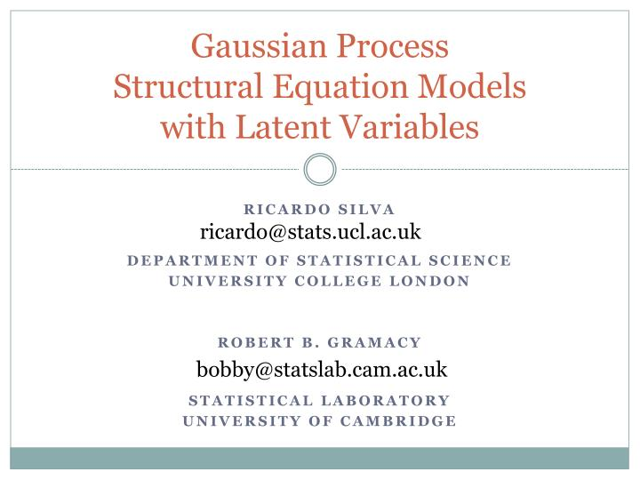 Gaussian process structural equation models with latent variables