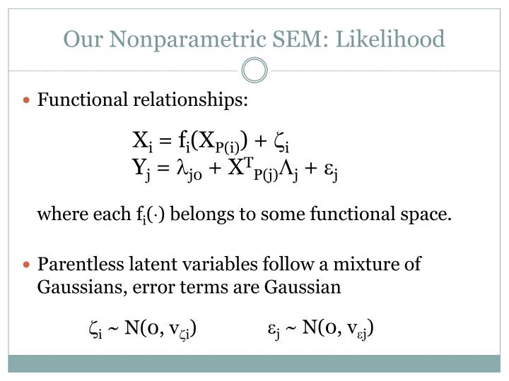 Our Nonparametric SEM: Likelihood