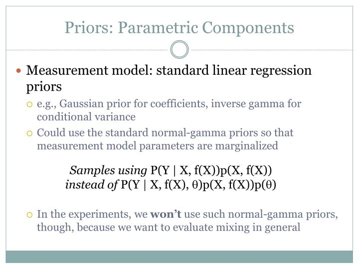 Priors: Parametric Components