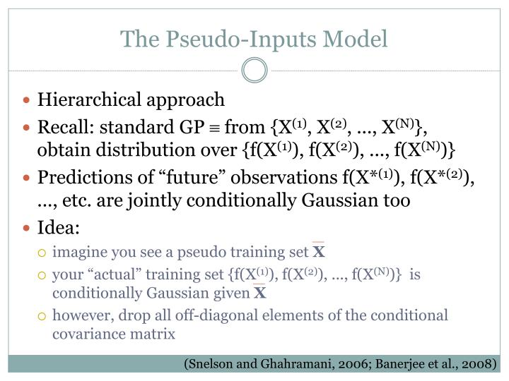 The Pseudo-Inputs Model