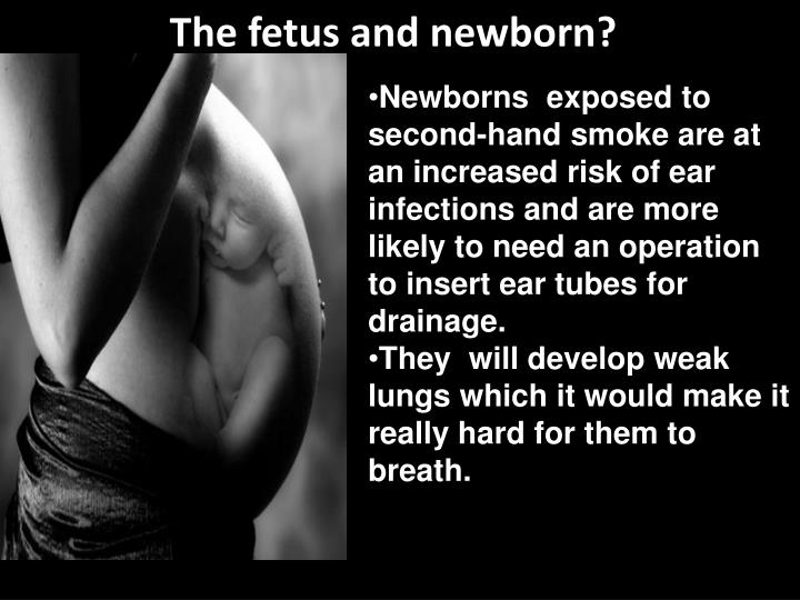 The fetus and newborn?