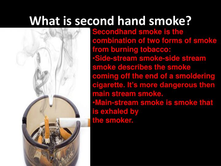 What is second hand smoke?