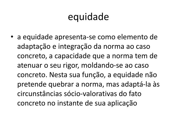 equidade