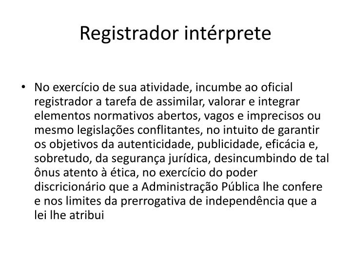 Registrador int rprete