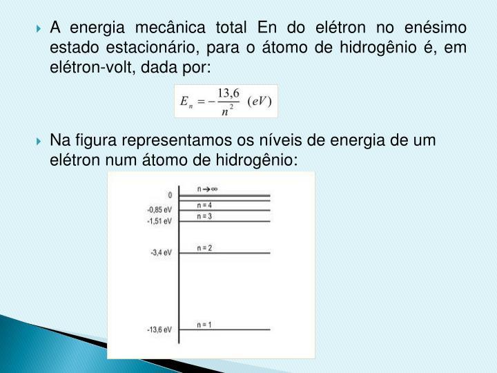 A energia mecânica total