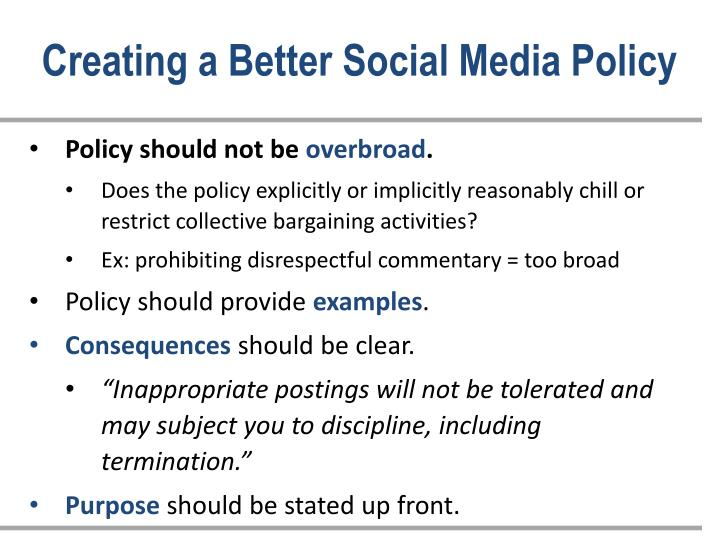 Creating a Better Social Media Policy