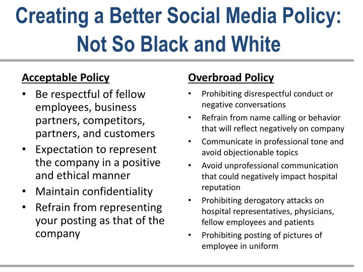 Creating a Better Social Media Policy: Not So Black and White
