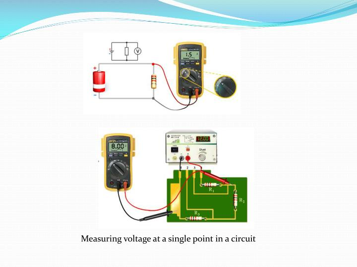 Measuring voltage at a single point in a circuit