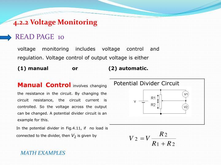 4.2.2 Voltage Monitoring
