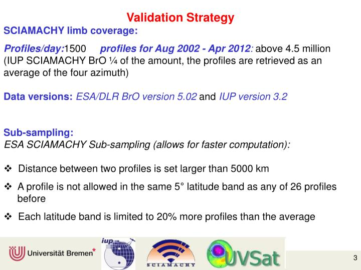 Validation Strategy