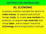 motives for imperialism