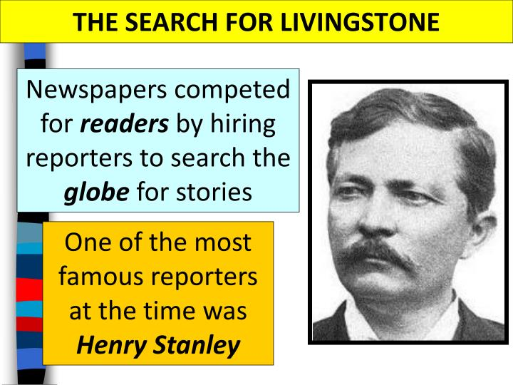 THE SEARCH FOR LIVINGSTONE