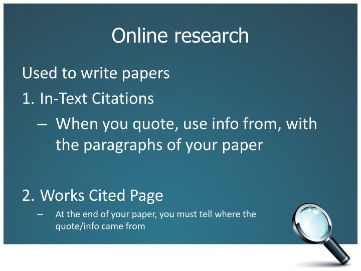 MLA In-Text Citations Works Cited Pages