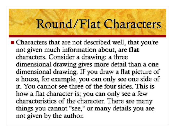 Round/Flat Characters