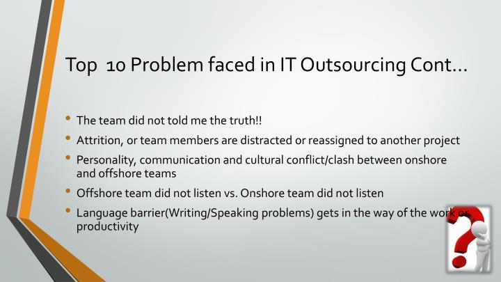 Top  10 Problem faced in IT