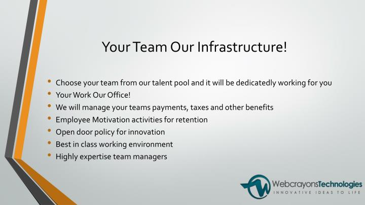 Your Team Our Infrastructure!