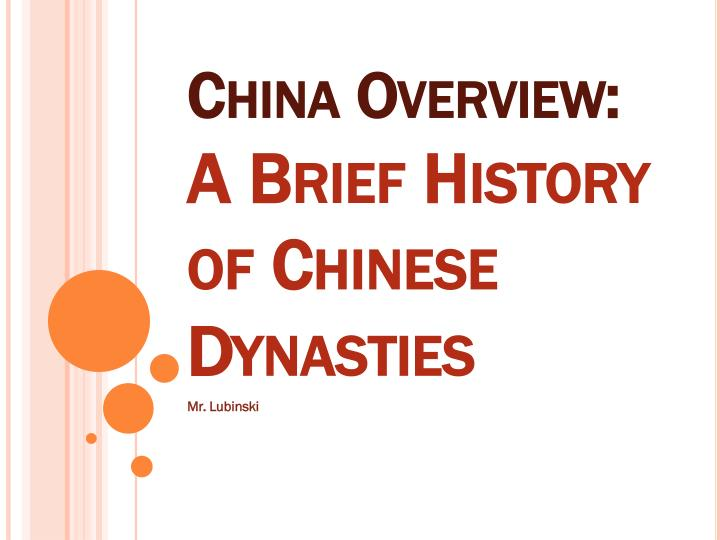 China overview a brief history of chinese dynasties