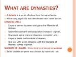 what are dynasties