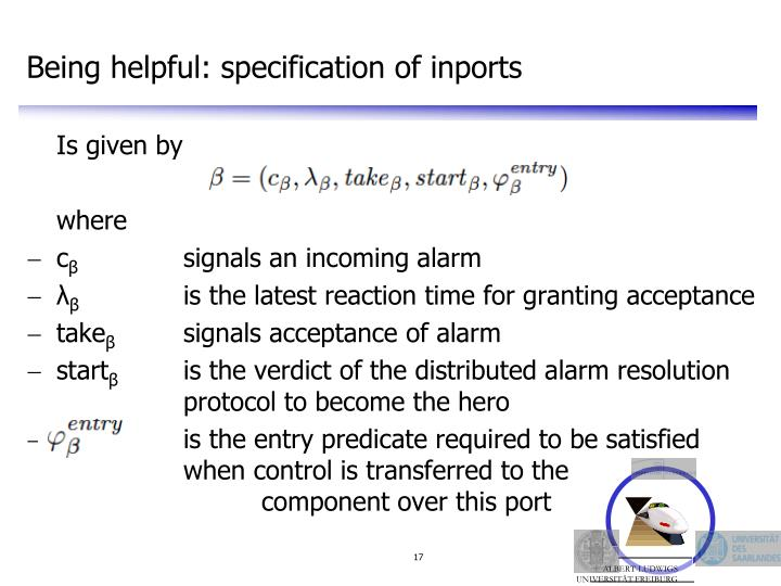 Being helpful: specification of