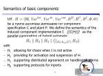 semantics of basic components