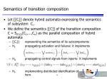 semantics of transition composition