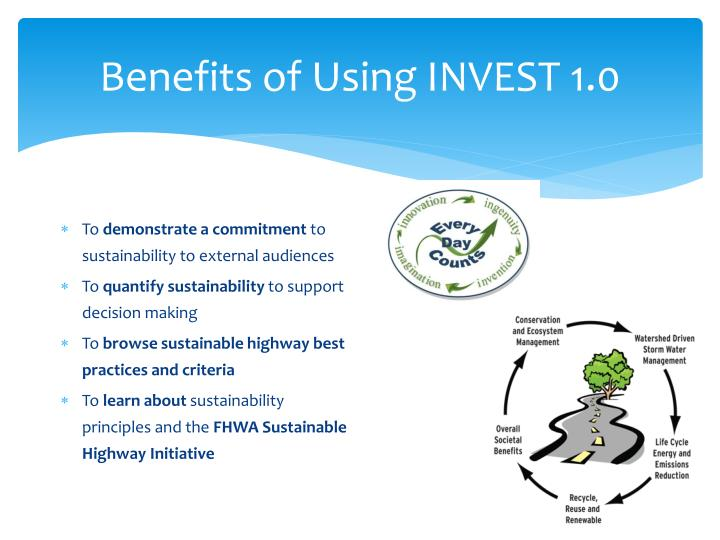 Benefits of Using INVEST 1.0