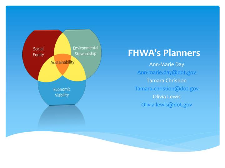 FHWA's Planners