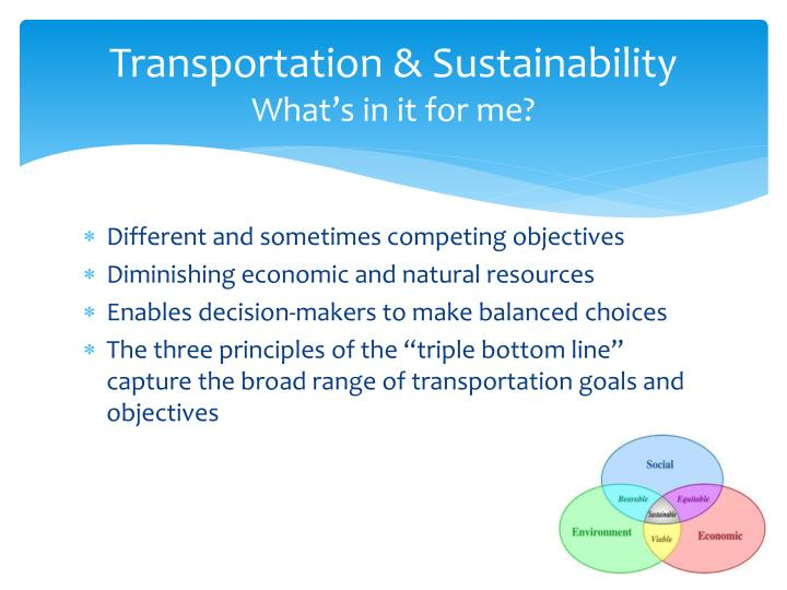 Transportation & Sustainability